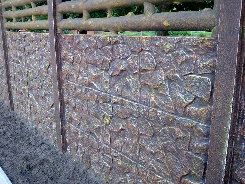 Декоративная покраска еврозаборов своими руками